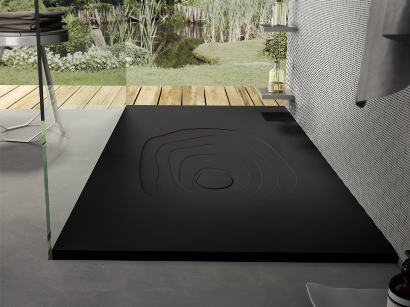 SPLASH SHOWER TRAY 90x100 BLACK AFRICA