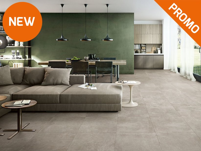 Cement Effect Porcelain Tile - Street