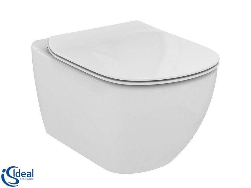 Ideal Standard Tesi Sedile.Wc Sospeso Ideal Standard Tesi 2016 Aquablade Bianco Lucido Con Sedile Soft Close Iperceramica