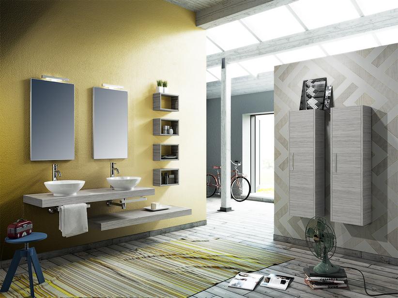 Bagno Legno Bianco : Mobile bagno topsy top cm finitura effetto legno larice
