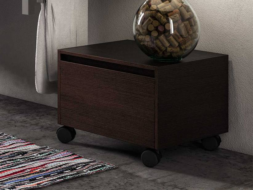 TOPSY CHEST OF DRAWERS COUNTERTOP 54.5X51 WENGE