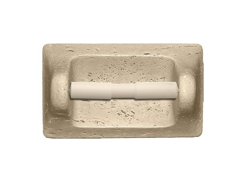 TRAVERTINO ROLL HOLDER WITH SPRING