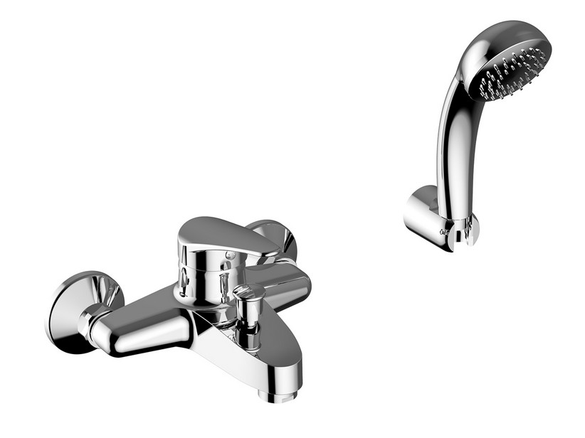 TUCSON BATH MIXER WITH HAND-SHOWER CHROME