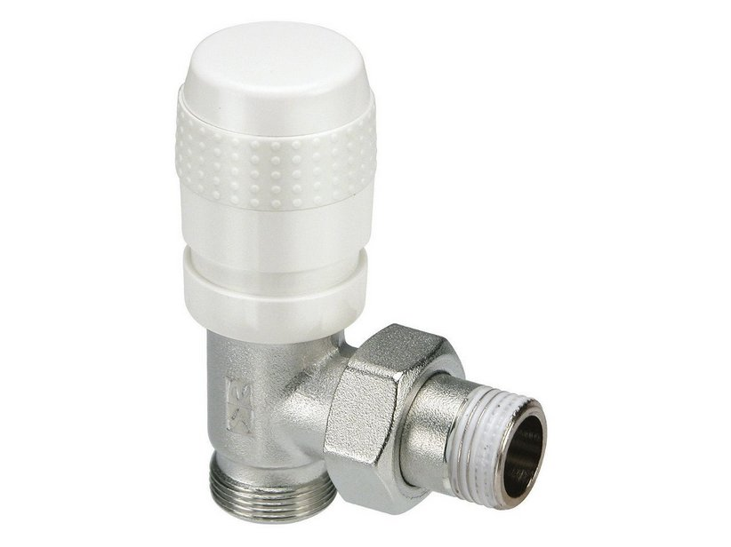 ITALIA ANGLED THERMOSTATIC VALVE WHITE