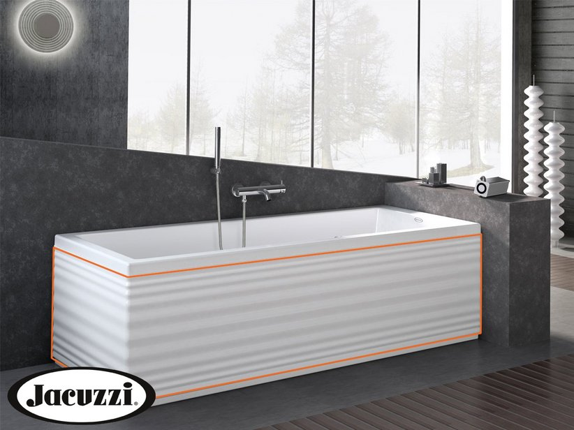JACUZZI® MOOVE CORRUGATED FR+SIDE PANEL RIGHT 170X70
