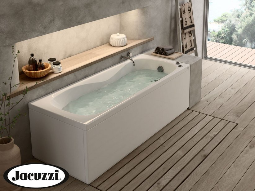 Jacuzzi 174 Soho Whirlpool Bath 170x70 Right With Front Side