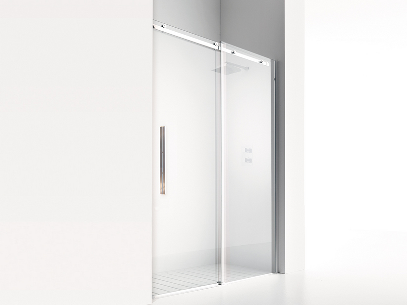 VELO SLIDING SHOWER DOOR cm. 118 H200 TRASPARENTE/CROMO