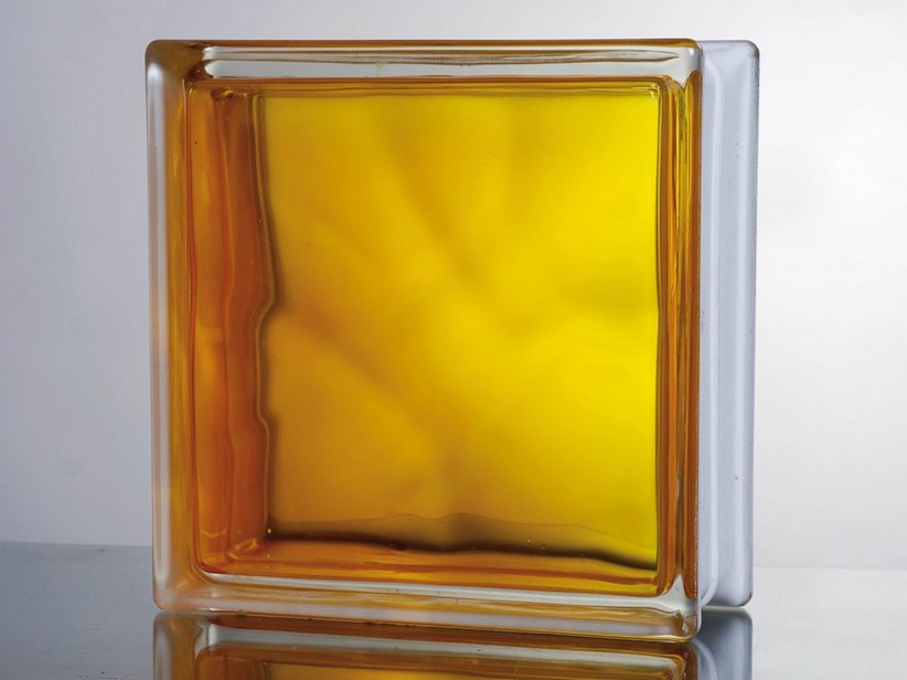 VETROMATTONE IN-COLORED YELLOW 19X19X8