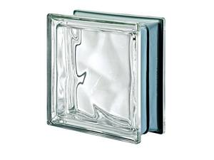 GLASS BLOCK NEUTRAL Q19 WAVY MET 19X19X8
