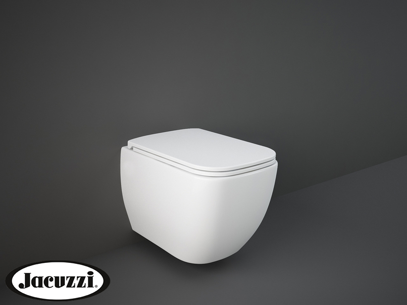 JACUZZI® RAY WALL-HUNG WC cm.52,5x34 RIMLESS HIDDEN FIX