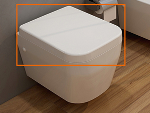 WIKI SOFT-CLOSE WHITE TOILET SEAT