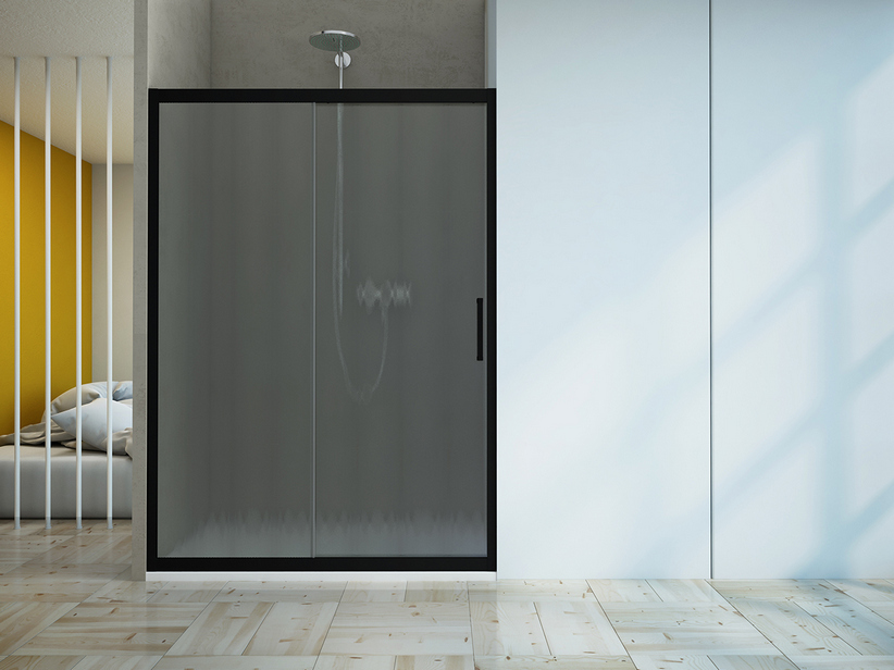 ZEN SLIDING DOOR cm. 140-130 H190 CINCILLA'/BLACK MATT