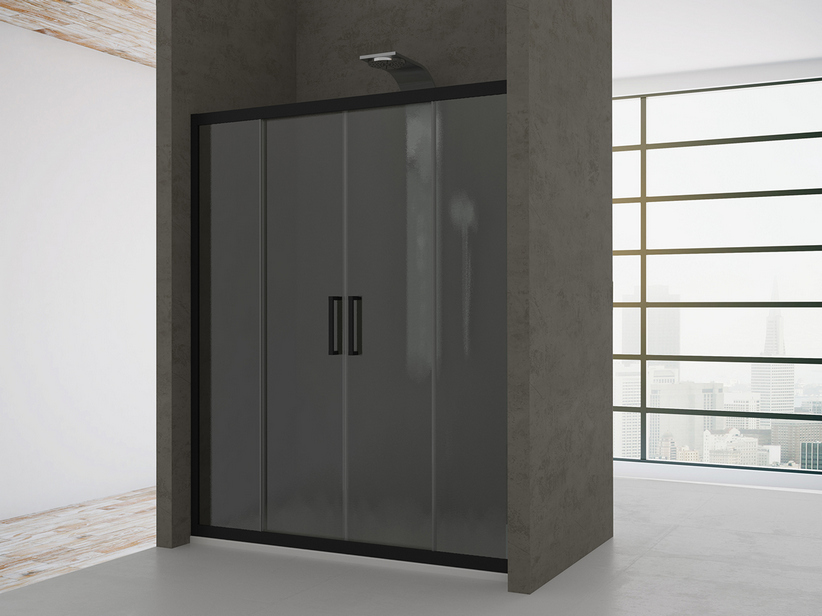 ZEN SLIDING DOORScm. 120-110 H190 CINCILLA'/BLACK MATT