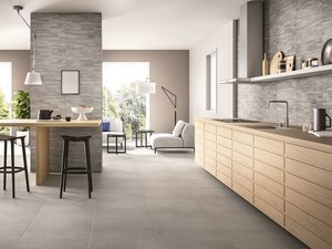 Minimal Cement Effect Kitchen Wall Tile - Arkistar
