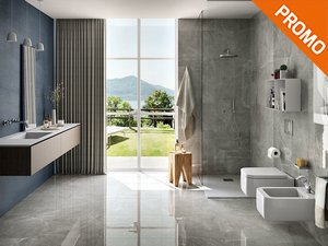 Marble Effect Full Lapped Wall Tile - Pulpis Grey