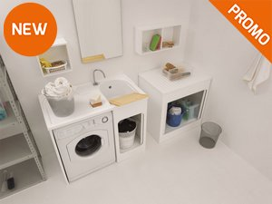 Vasca Da Lavanderia : Il bagno ad uso lavanderia di cerasa