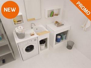 Mobili lavanderia soluzioni e accessori iperceramica