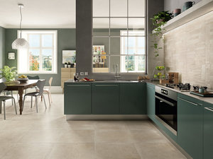 Stone effect kitchen floor and wall porcelain tile - Ever