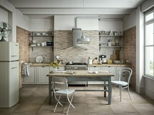 Double-Fired Wood Effect Kitchen Wall Tile - Taiga