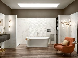 Double-Fired Glossy Marble Effect Wall Tile - Julia