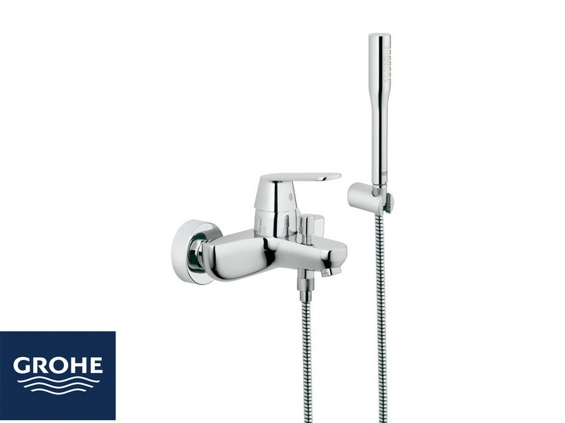 Grohe eurosmart cosmo miscelatore vasca con doccia cromo for Doccia iperceramica