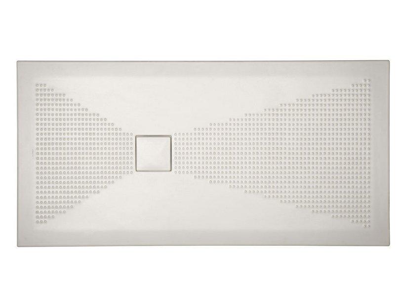 Piatto doccia pluston 70x120 bianco semisfere iperceramica for Doccia iperceramica
